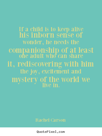 Quotes about friendship - If a child is to keep alive his inborn sense of wonder, he needs the..