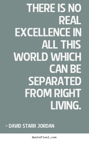 Inspirational quotes - There is no real excellence in all this world which can be..