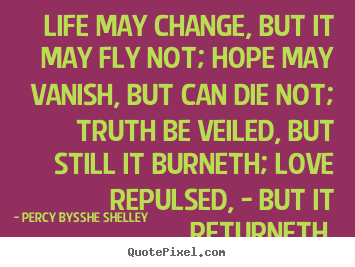 Quotes about inspirational - Life may change, but it may fly not; hope may vanish, but can..