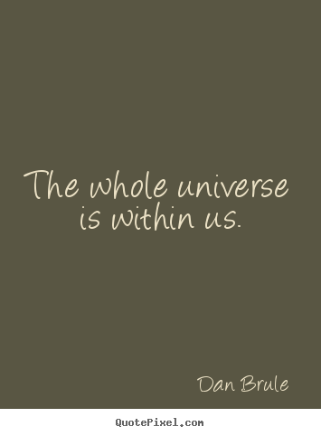 Design custom picture quotes about inspirational - The whole universe is within us.