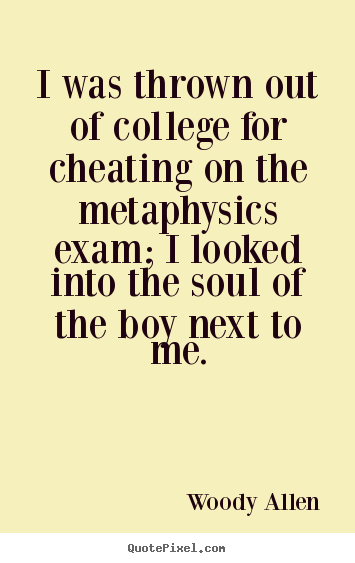 Create graphic picture quotes about inspirational - I was thrown out of college for cheating on the..
